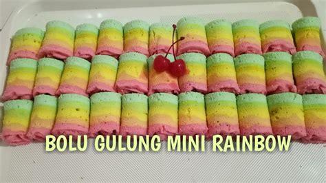 Resep bolu gulung mini | mini roll cake recipe hi.kali ini share bolu gulung mini cantik untuk snack box, untuk suguhan arisan, atau pesta ultah anak2 resep bolu gulung tintin rayner bahan. BOLU GULUNG MINI RAINBOW, RESEP MINI ROLL RAINBOW CAKE - YouTube