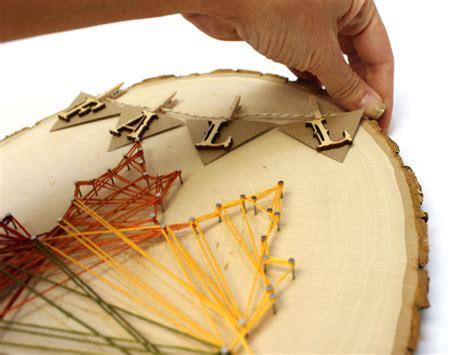 fall string art leaf stencil diy craftcutscom
