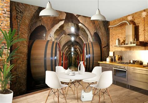 wine cellar custom wallpaper mural print  jw shutterstock