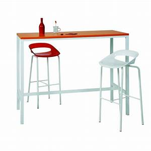 Table Cuisine étroite : table haute et troite meuble de salon contemporain ~ Teatrodelosmanantiales.com Idées de Décoration