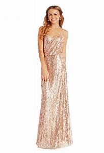 Gold sequin bridesmaid dress wedding pinterest for Sequined wedding dress