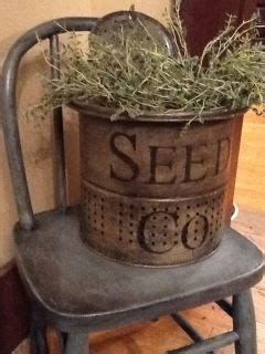 Old Minnow Bucket Painted Stuffed With Plant
