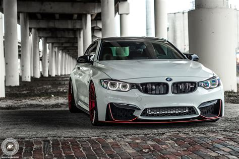 Bmw M4 Coupe Modification by Alpine White Bmw F82 M4 With Carbon Fiber Aero And Adv 1
