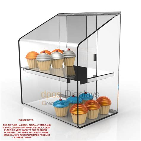 cake cabinet small acrylic cup cake donut pastrie display cabinet