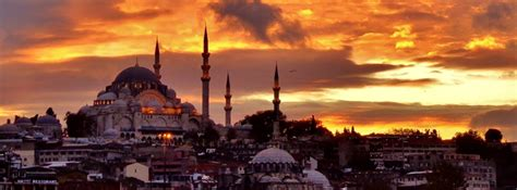 scenic istanbul sunset facebook cover