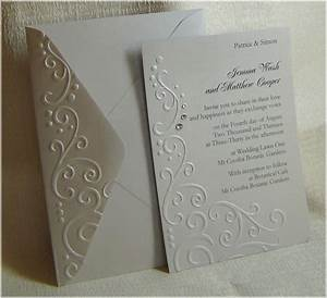 handmade embossed wedding invitations passionate about paper With make embossed wedding invitations