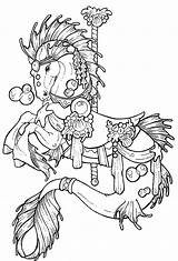 Seahorse Drawing Realistic Coloring Pages Drawings Getdrawings sketch template
