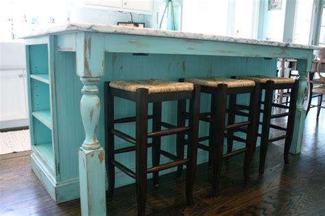 shabby chic kitchen island turquoise painted kitchen cabinets shabby chic kitchen