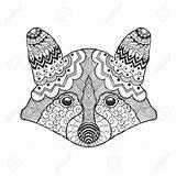 Raccoon Tribal Coloring Caves Drawing Head Drawn Bear Designlooter Doodle Ethnic Animal Drawings 1300 1300px 99kb Getdrawings sketch template