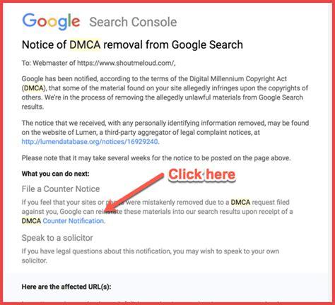 dmca notice  google   tackle  counter