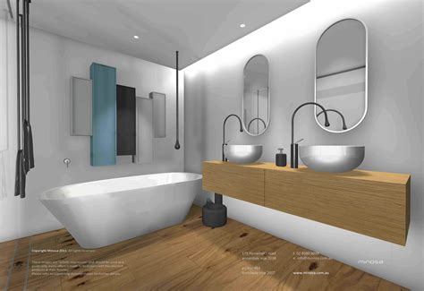 Modern bathrooms with bright and red walls + images 26 february 2021. Minosa: Sydney City Apartment - Modern bathroom design ...