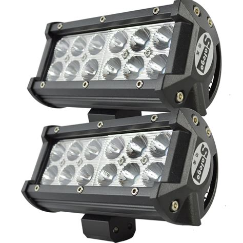 led offroad lights 2pcs 7 quot inch 36w cree led work light bar 36w road led