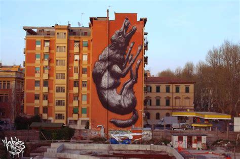 Roa New Mural For Avanguardie Urbane Rome Italy