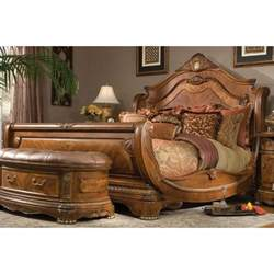 michael amini cortina sleigh bed reviews wayfair