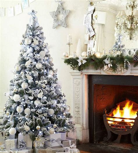 christmas tree decoration white  silver  christmas