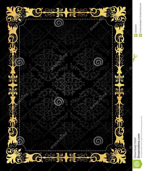 invitation card ornamental frame  damask backgr stock