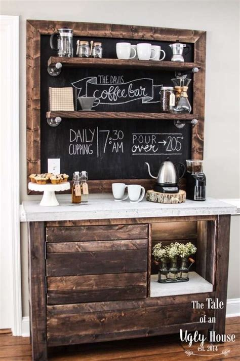 charming coffee station design ideas  starting  day   style motivation