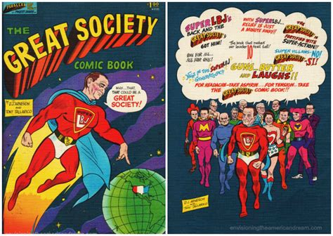 lbj s comic great society envisioning the american