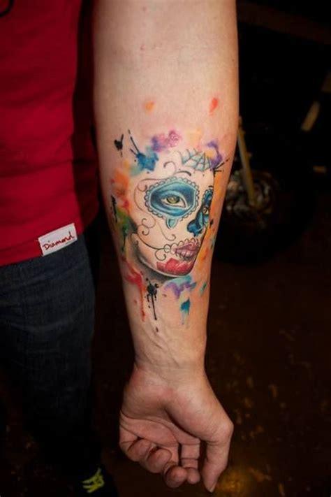 la catrina mexicana en acuarelas tatuajes  mujeres