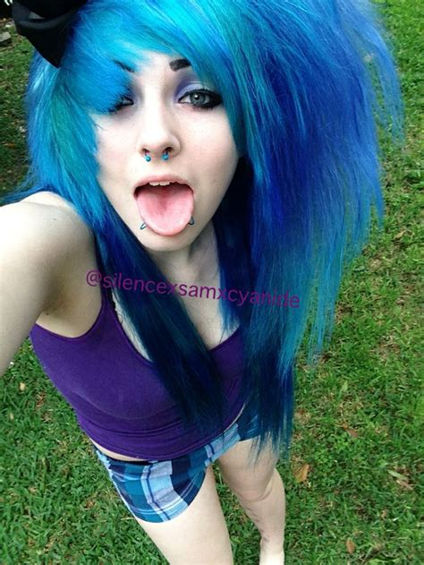 Scene Girl With Blue And Purple Hair Me Pinterest