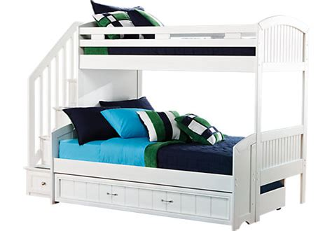 rooms to go bunk bed cottage color alternate s white twin full step bunk bed 19643 | cottage colors white twin full step bunk bed with trundle 525x366 3609800P
