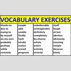 English Vocabulary Exercises Vocabulary Words English Learn With Meaning English Words Youtube