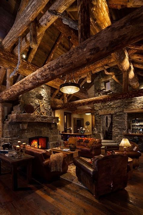 awesome home interiors awesome log home interior log cabin ideas pinterest
