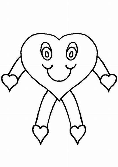 Stick Colouring Figure Pages Coloring Heart Sheets