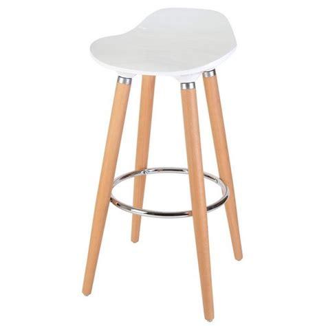 la chaise longue fr tabouret de bar blanc bois cuisine en image
