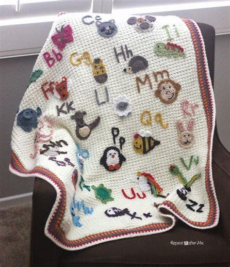 abc afghan baby blanket  crochet patterns