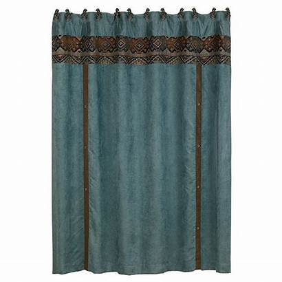 Western Shower Curtain Rio Decor Del Teal