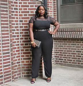 My Favorite Chic Black Plus Size Jumpsuit | Stylish Curves