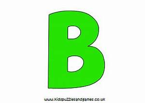 Letter B Printables - Kids Puzzles and Games