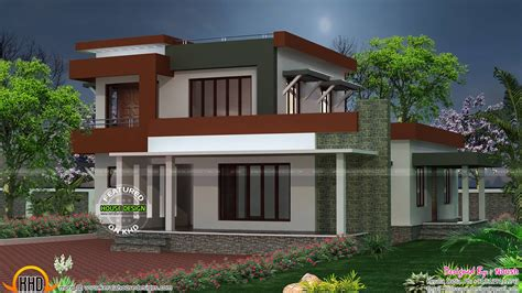 2250 sq-ft box type house plan - Kerala home design and