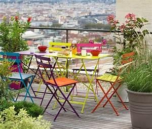 des idees colorees pour une terrasse joli place With idee pour jardin exterieur 0 idees deco futees pour petit balcon joli place