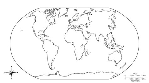Free Coloring Pages Of Map World Europe
