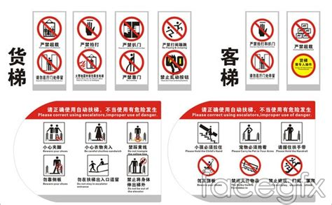 elevator safety signs vector  millions vectors