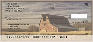 vintage old farm barns personal checks With barn checks