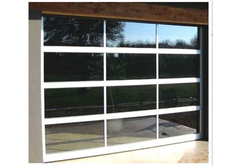 wood and glass door a modern look at a gorgeous garage door view