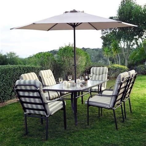 provence dining table and chairs provence 6 seater garden dining furniture with parasol