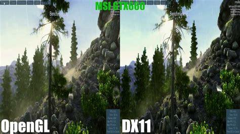 opengl  directx   unigine valley benchmark  msi