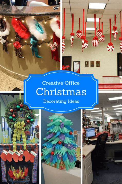 creative office christmas decorating ideas images