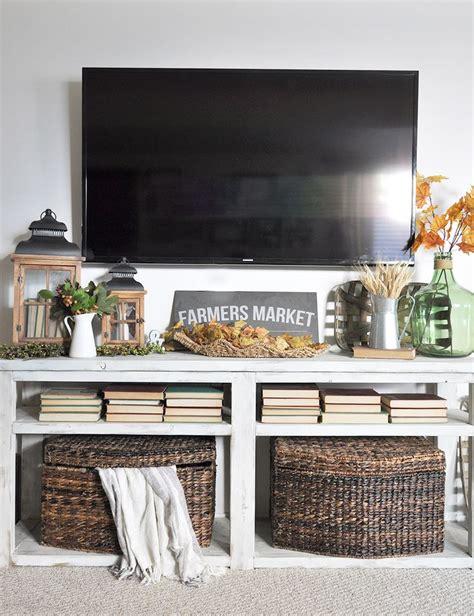 tv stand decor ideas  pinterest