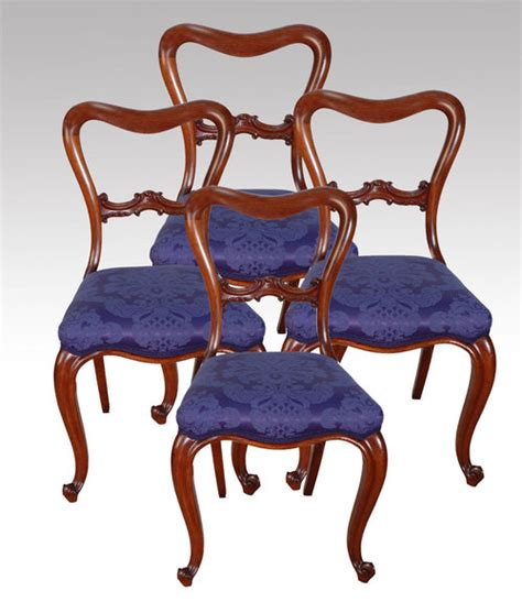 a set of four dining chairs for sale antiques
