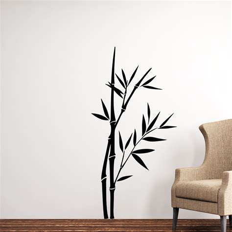 stickers muraux bambou great sticker bambou with stickers