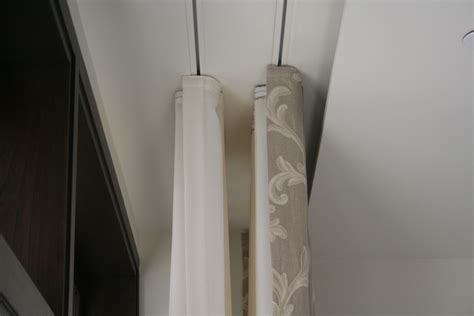 drapery tracks from the ceiling dual ripplefold drapes and tracks flush with the ceiling
