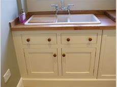 Utility kitchen gallery in painted mdf Thorne Woodworking