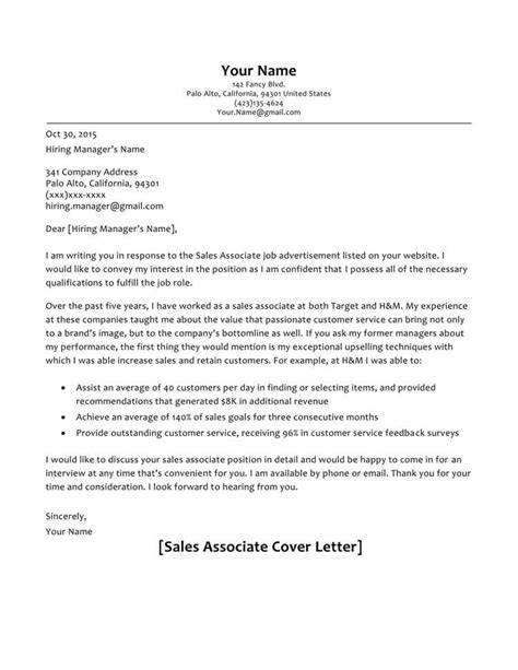 Exles Of Sales Cover Letters by 66 Cover Letter Sles And Correct Format To Write It