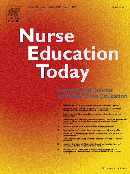 nurse education today elsevier pharma solutions