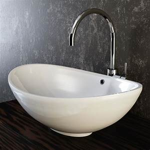 Waschbecken Auf Tisch : vilstein keramik waschbecken aufsatzwaschbecken waschtisch oval wei 60 cm ~ Sanjose-hotels-ca.com Haus und Dekorationen